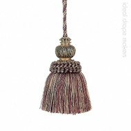 IDM - Exquisite Key Tassel 3463-00 _8846 Mulberry Avocado  | Key Tassel, Curtain & Upholstery, Trim - Beige, Pink, Purple, Traditional, Domestic Use