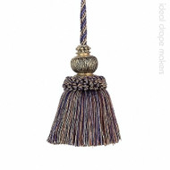 IDM - Exquisite Key Tassel 3463-00 _8817 Navy Taupe  | Key Tassel, Curtain & Upholstery, Trim - Beige, Blue, Traditional, Domestic Use