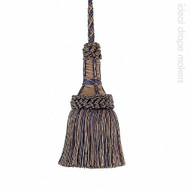 IDM - Exquisite Key Tassel 1921-00 _8817 Navy Taupe    Key Tassel, Curtain & Upholstery, Trim - Beige, Blue, Traditional, Domestic Use