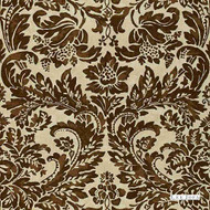 Lee Jofa - Montrose Linen - Chocolate  | Curtain & Upholstery fabric - Brown, Craftsman, Damask, Natural Fibre, Traditional, Natural, Print, Standard Width, Rococo