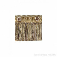 IDM - Exquisite Cut Fringe with Rosette 1882_7633 Gold Storm  | Fringe, Curtain & Upholstery Trim - Gold,  Yellow, Tan, Taupe, Traditional, Domestic Use