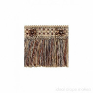 IDM - Exquisite Cut Fringe with Rosette 1882_8735 Mocha Gold  | Fringe, Curtain & Upholstery Trim - Brown, Gold,  Yellow, Tan, Taupe, Traditional, Domestic Use