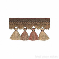 IDM - Exquisite Tassel Fringe 1642_8822 Ginger Megs  | Fringe, Curtain & Upholstery Trim - Gold,  Yellow, Terracotta, Tan, Taupe, Traditional, Domestic Use