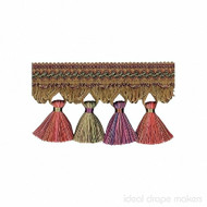 IDM - Exquisite Tassel Fringe 1642_8894 Harlequin  | Fringe, Curtain & Upholstery Trim - Gold,  Yellow, Pink, Purple, Traditional, Domestic Use
