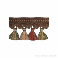 IDM - Exquisite Tassel Fringe 1642_7114 Turkish Delight  | Fringe, Curtain & Upholstery Trim - Terracotta, Traditional, Domestic Use
