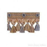 IDM - Exquisite Organdy Tassel Fringe 1879_8825 Blue Heaven  | Fringe, Curtain & Upholstery Trim - Blue, Tan, Taupe, Traditional, Domestic Use