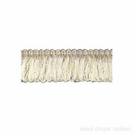 IDM - Exquisite Organdy Loop Fringe 1789_455 White Dove  | Fringe, Curtain & Upholstery Trim - White, Tan, Taupe, Traditional, Domestic Use, White