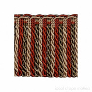 IDM - Exquisite Bullion Fringe 1767_8802 Red Sherbert  | Fringe, Curtain & Upholstery Trim - Gold,  Yellow, Red, Traditional, Domestic Use