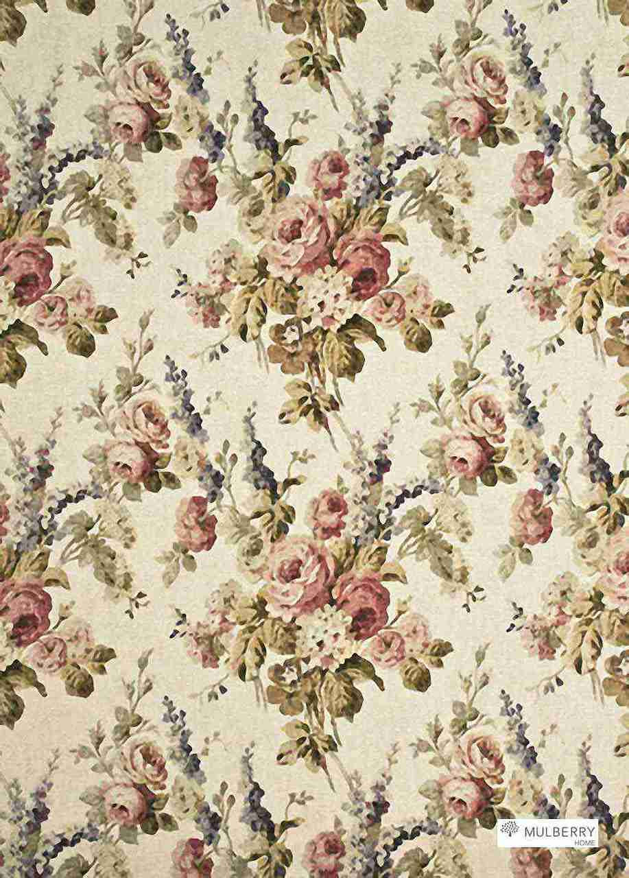 Mulberry Home Vintage Floral Antique Rose Fabric