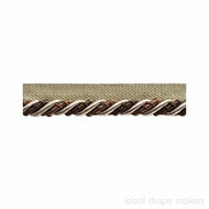 IDM - The Cotswolds Flanged Cord BI300 _14 Quicksilver  | Flange Cord, Trim - Beige, Brown, White, Tan, Taupe, Traditional, Domestic Use, White