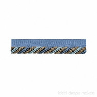 IDM - The Cotswolds Flanged Cord BI300 _6 Sky  | Flange Cord, Trim - Beige, Blue, Grey, Traditional, Domestic Use