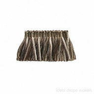 IDM - The Cotswolds Brush Fringe BI500 _14 Quicksilver  | Fringe, Curtain & Upholstery Trim - Beige, Brown, White, Traditional, Domestic Use, White