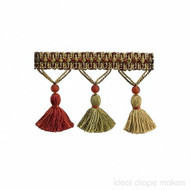 IDM - The Cotswolds Tassel Fringe BI100 _10 Persian  | Fringe, Curtain & Upholstery Trim - Beige, Gold,  Yellow, Red, Traditional, Domestic Use