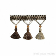 IDM - The Cotswolds Tassel Fringe BI100 _14 Quicksilver  | Fringe, Curtain & Upholstery Trim - Beige, Brown, White, Traditional, Domestic Use, White