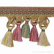 IDM - Cavalier Tassel Fringe 1246_8749 Carnival  | Fringe, Curtain & Upholstery Trim - Beige, Brown, Pink, Purple, Traditional, Domestic Use