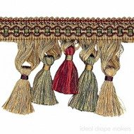 IDM - Cavalier Tassel Fringe 1246_8770 Tigers Eye  | Fringe, Curtain & Upholstery Trim - Burgundy, Gold,  Yellow, Traditional, Domestic Use