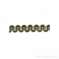 IDM - Essential Gimps CS200 _196 Green & Gold    Gimps & Braids, Curtain & Upholstery Trim - Gold,  Yellow, Traditional, Domestic Use