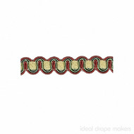 IDM - Essential Gimps CS200 _360 Beige, Green & Terracotta  | Gimps & Braids, Curtain & Upholstery Trim - Beige, Terracotta, Traditional, Domestic Use