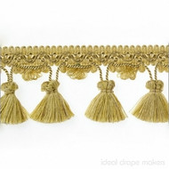 IDM - Botticelli Tassel Fringe 1825_308 Pure Gold  | Fringe, Curtain & Upholstery Trim - Gold,  Yellow, Tan, Taupe, Traditional, Domestic Use