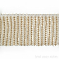IDM - Botticelli Bullion Fringe 1604_455 White Dove  | Fringe, Curtain & Upholstery Trim - White, Tan, Taupe, Traditional, Domestic Use, White