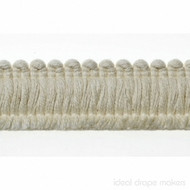 IDM - Cottonfields Brush Fringe 1109_1087 Natural  | Fringe, Curtain & Upholstery Trim - Brown, Traditional, Domestic Use, Natural