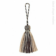IDM - Amazonas Key Tassel 3308-00 _1519 Black & Beige  | Key Tassel, Curtain & Upholstery, Trim - Beige, Black - Charcoal, Traditional, Domestic Use