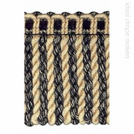 IDM - Amazonas Bullion Fringe 1656_1519 Black & Beige  | Fringe, Curtain & Upholstery Trim - Beige, Black - Charcoal, Traditional, Domestic Use