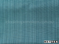 Nettex Grange Lagoon MG39  | Curtain Fabric - Blue, Plain, Fibre Blends, Turquoise, Teal, Uncoated, Domestic Use, Standard Width, Strie