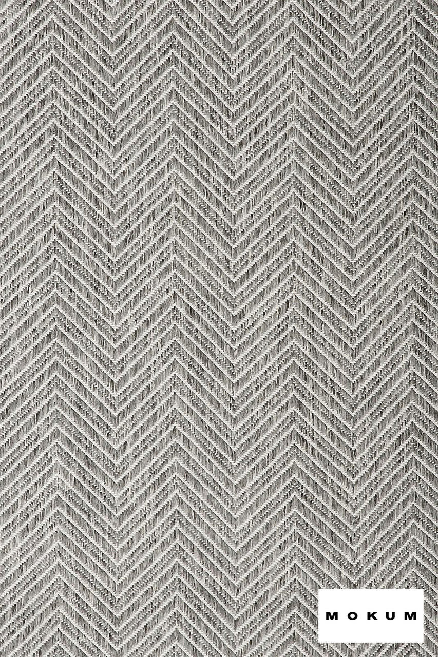 Mokum Madura - Ash  | Upholstery Fabric - Fire Retardant, Grey, Eclectic, Outdoor Use, Pattern, Synthetic, Tropical, Washable, Chevron, Zig Zag, Commercial Use, Standard Width