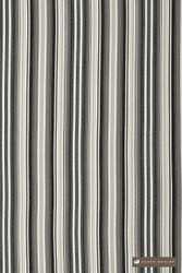 James Dunlop Bahamas - Voodoo  | Upholstery Fabric - Stain Repellent, Grey, Black - Charcoal, Outdoor Use, Stripe, Synthetic, Traditional, Washable, Bacteria Resistant