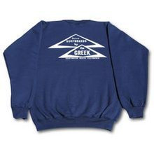 Classic Greek Triangle Long Sleeve Crew Sweatshirt