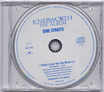 "DIRE STRAITS - I Think I Love You Too Much (5"" CD SINGLE)"