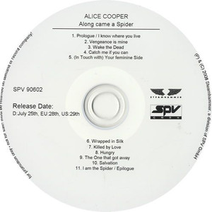 ALICE COOPER - Along Came A Spider (CD-R)