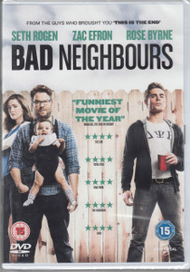 BAD NEIGHBOURS 2014 UK DVD NEW/SEALED Seth Rogen Zac Efron Free UK P&P