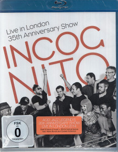 INCOGNITO Live In London: 35th Anniversary Show 2015 Blu-ray + Bonus SEALED/NEW