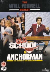 THE WILL FERRELL 2 MOVIE BOXSET Old School / Anchorman 2006 2-DVD set NEW/SEALED