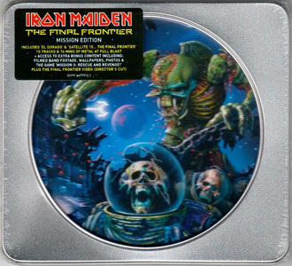 IRON MAIDEN The Final Frontier 2010 Mission Edition Tin 10-track CD NEW/SEALED