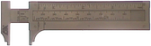 6463 - Pocket Slide Rule