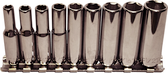 "92409 - 9 Piece 1/4"" Drive 6 Point Deep SAE Sockets"
