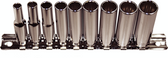 "92510 - 10 Piece 1/4"" Drive 12 Point Deep Metric Sockets"