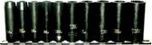 "97211 - 10 Piece 1/4"" Drive SAE Deep. Impact Sockets. 3/16"" -9/16"""