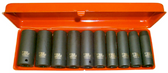 "10 PC 1/2"" DR SAE DEEP IMPACT SOCKET SET - 97410L"