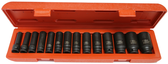 "14PC 1/2"" DR METRIC  6 PT DEEP IMPACT SOCKET SET - 98414L"