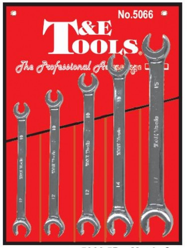 15 Piece Metric Flare Nut Crowsfoot Wrenches T/&E Tools 93915