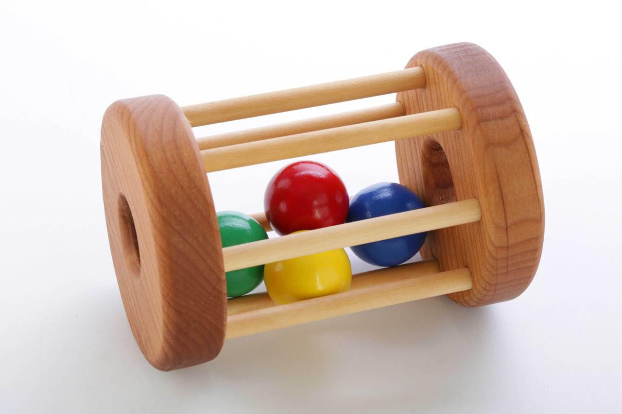 Wooden Tumbler Floor Toy