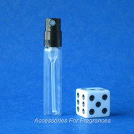 Atomizer - Clear Glass w/Black Pump - .05oz (1.5mL)