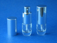 Atomizer - Glass Oval Cylinder - 1/8oz (4mL)