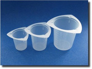 (1) Tri-Pour No Drip Graduated Plastic Measure Cups -- 50ml, 100ml & 250ml