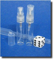 Atomizer - Clear Glass - Clear Sprayer - 1/6oz (5mL)