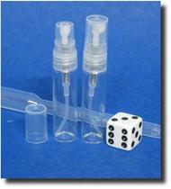 Atomizer - Clear Glass - Clear Sprayer - 1/6oz (5mL)